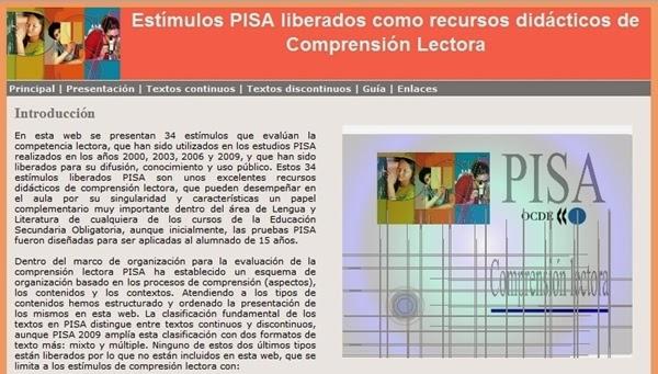 http://recursostic.educacion.es/inee/pisa/lectora/index.htm