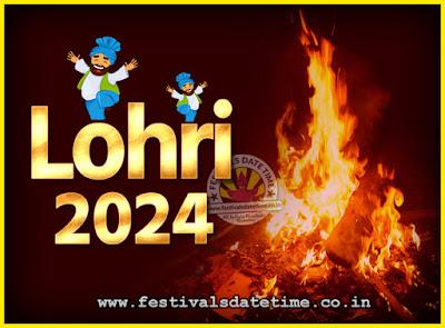 2024 Lohri Festival Date & Time, 2024 Lohri Calendar