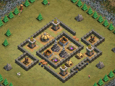 Goblin Base Clash of Clans Obsidian Tower
