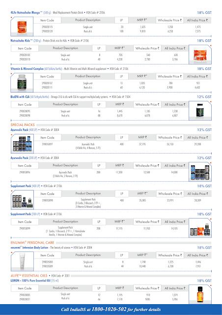 4life india price list