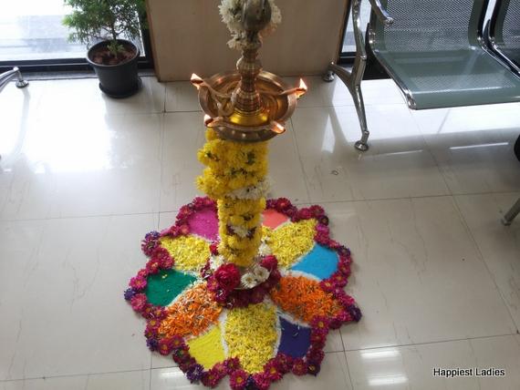 floral rangoli decoration