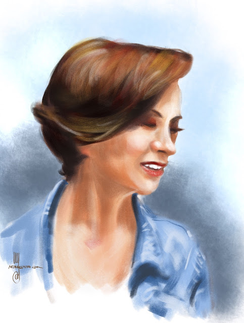 Portrait sketch by Artmagenta