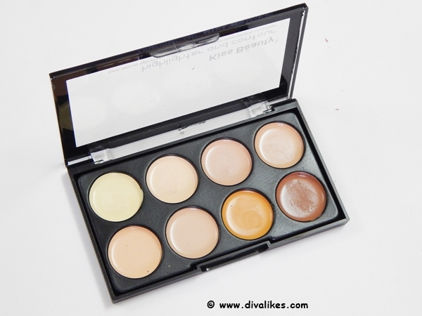 Kiss Beauty Highlighter and Contour Concealer Palette Review