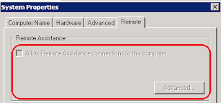 Enable Remote assistance in Windows server 2008