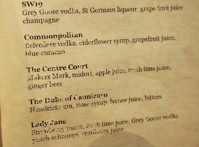 wimbledon cocktails