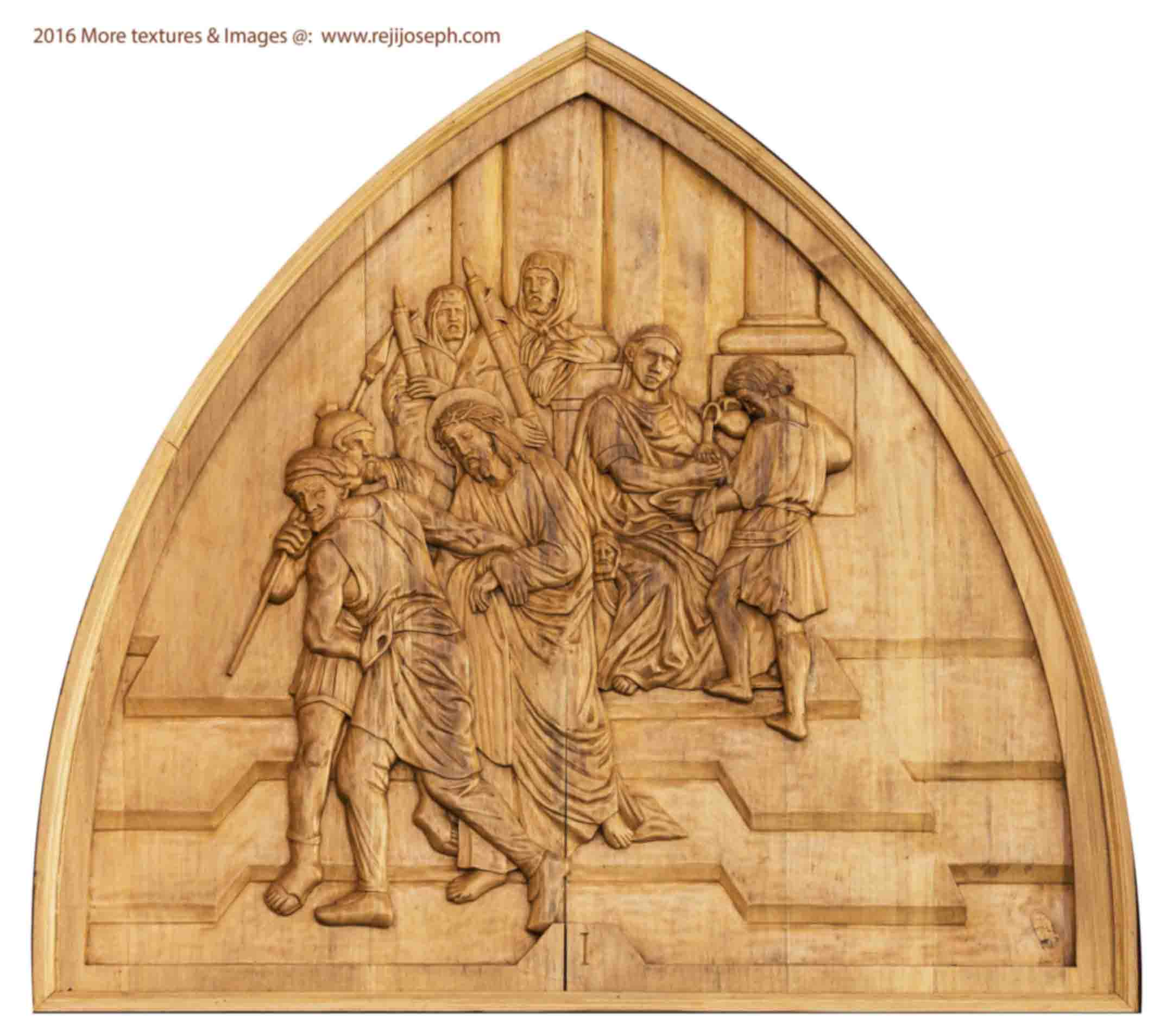 Way of the cross wooden relief 001