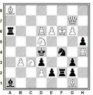 Problema de mate en 2 compuesto por Waldemar Mazul (Szachy 1975)
