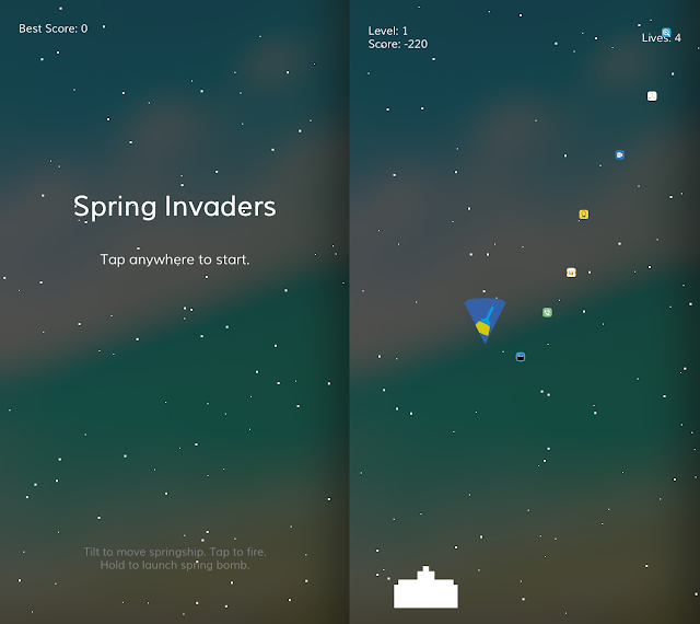 Have you ever thought playing games on your springboard?? Well you can now play a classic arcade game with this brand new tweak called SpringInvaders
