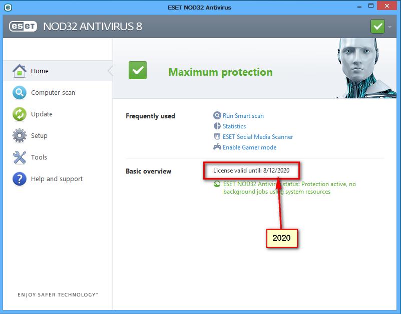 nod32 password and nod32 username