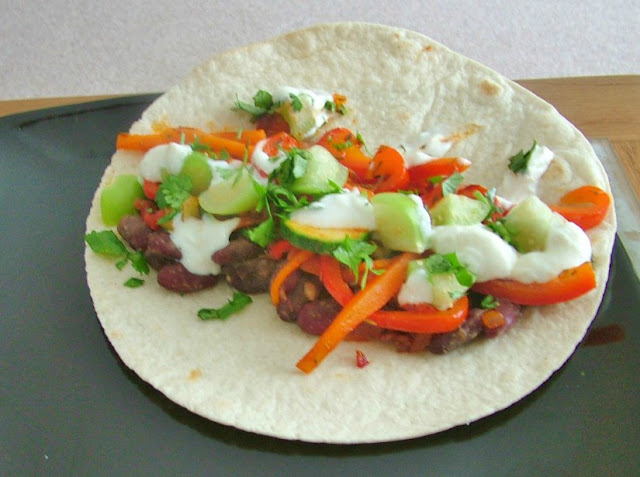 Veg Fajita from Riverford recipe box