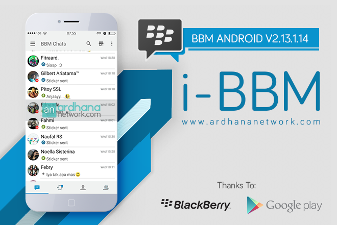 i-BBM V2.13.1.14 - BBM MOD Android Like iPhone