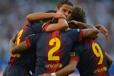 اهداف مباراة برشلونة و هامبورغ