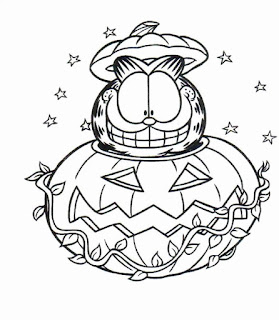 Garfield And Jack O Latern Coloring Pages