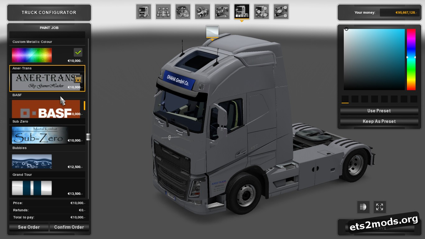 Aner-Trans Skin for Volvo 2012 &2013