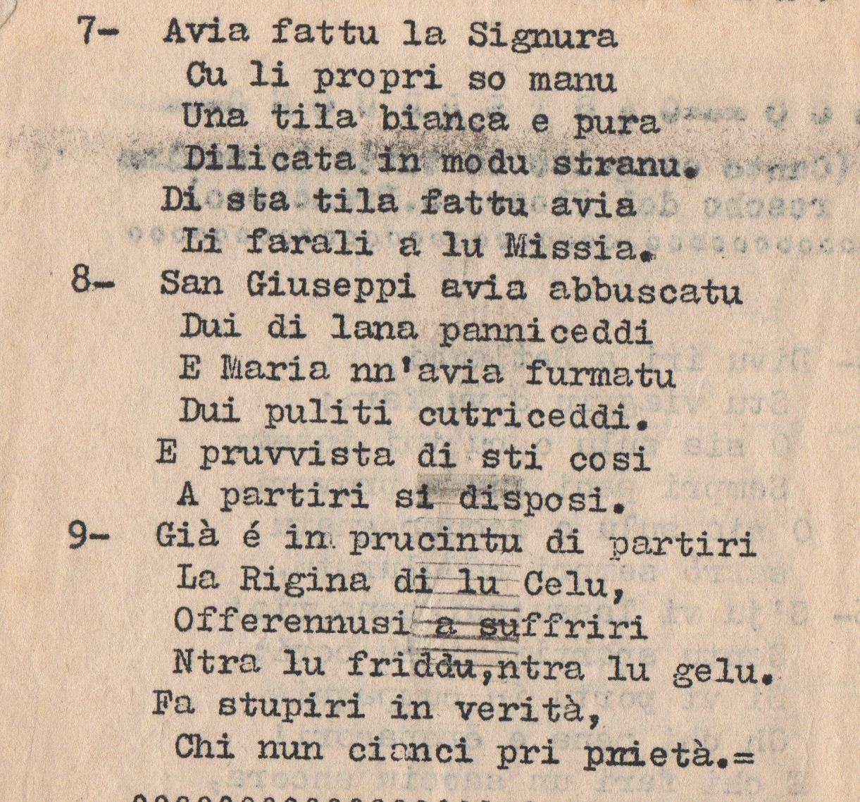 Auguri Di Natale In Dialetto Siciliano.Archivio E Pensamenti Agli Amici Di Castelbuono La Novena Di