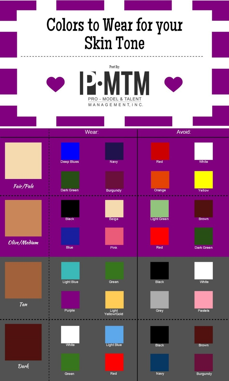 PMTM: Colors to Wear for Your Skin Tone