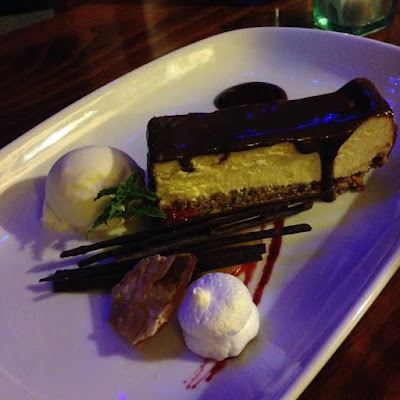 Baked Double Chocolate Cheesecake at Norfolk Blue