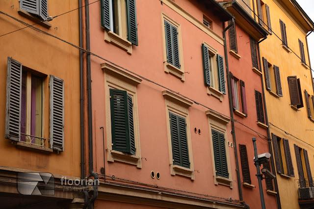 Okiennice i arkady w Bolonii