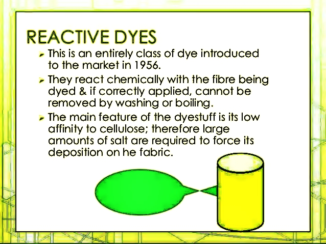 Textile Technology Info Reactive Dye Vinyl Sulfone Dyes