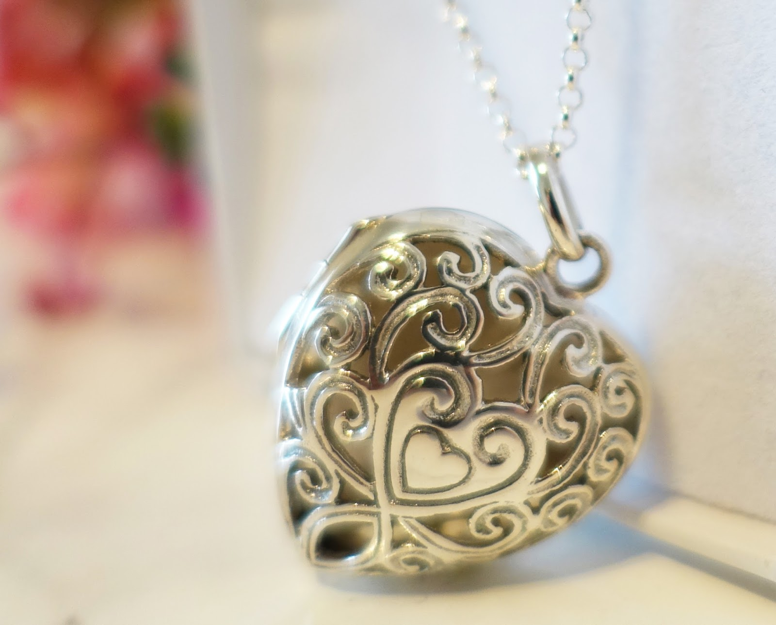 Image showing a vintage style silver locket on a chain
