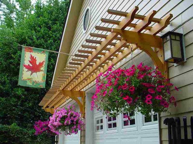Decorating the Garage Exterior with an Arbor - Rustic ...