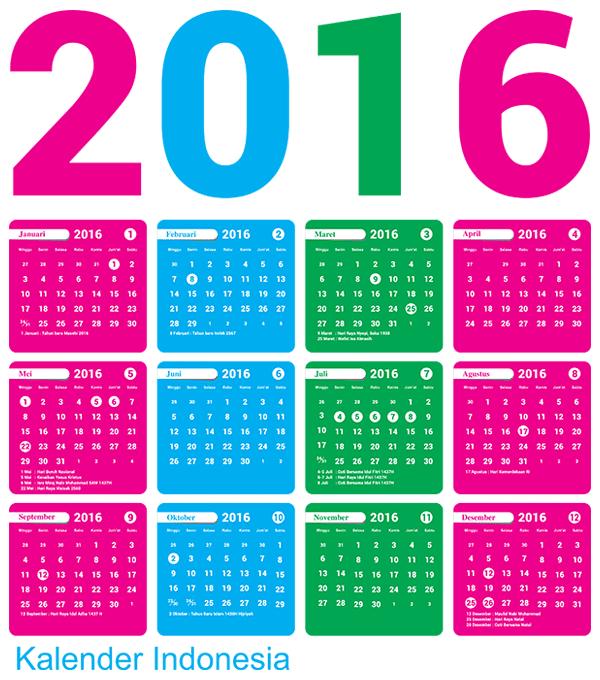 ... kalender 2016 nya untuk persediaan meniti tahun 2016 mendatang
