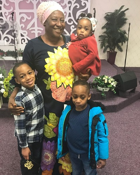 Patience Ozokwor and family