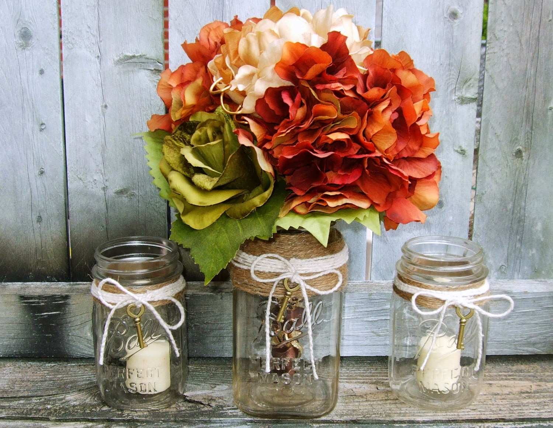 Recycled Mason Jar Into Wedding Decorations
