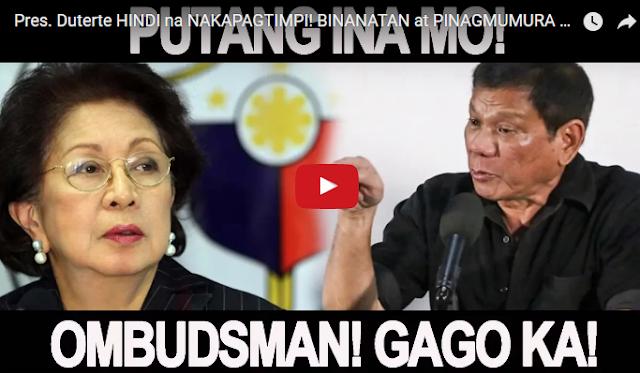WATCH | Pres. Duterte HINDI na NAKAPAGTIMPI! BINANATAN at PINAGMUMURA si Ombudsman Conchita Carpio-Morales