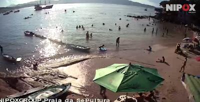 Praia da Sepultura Bombinhas ao vivo