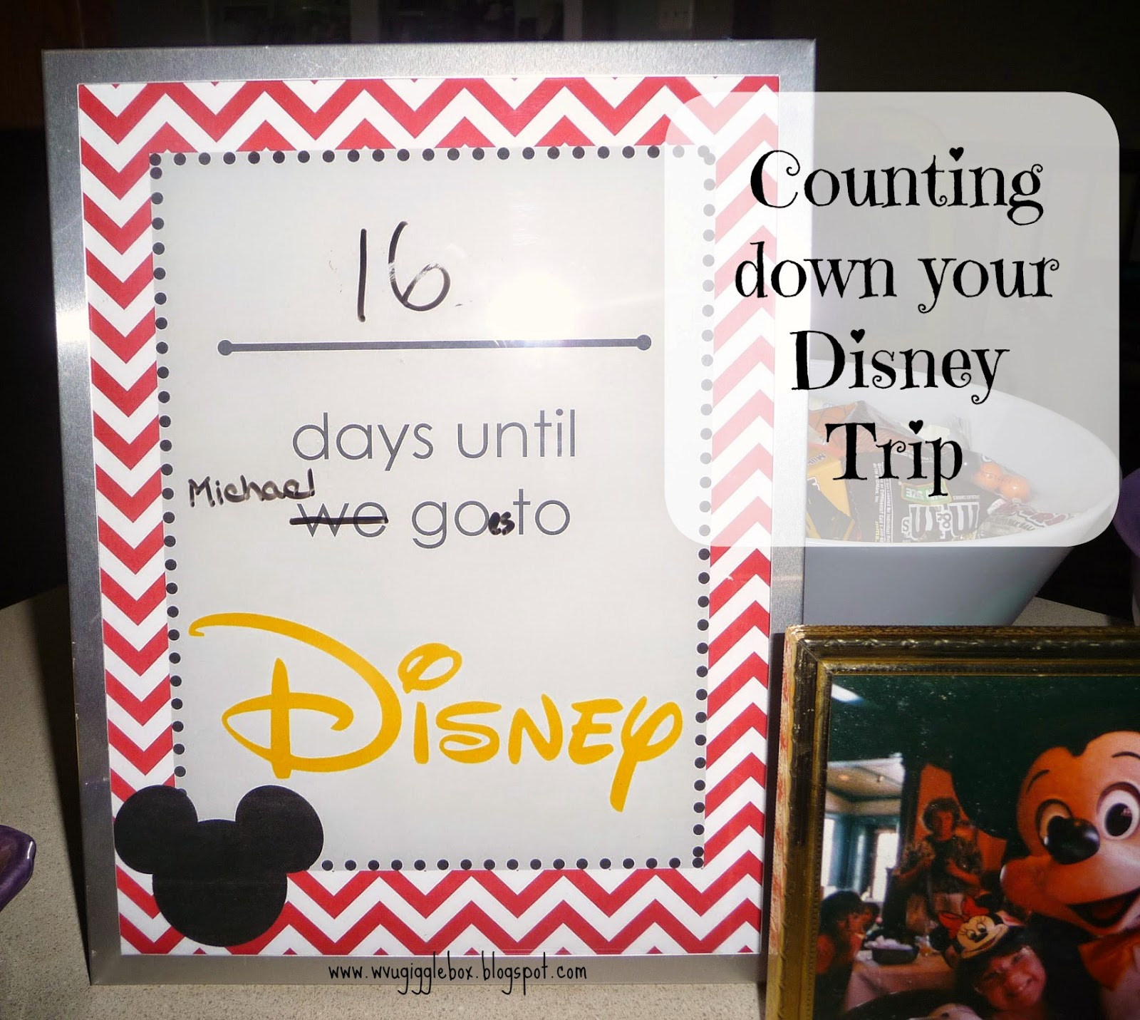 Disney vacation countdown ideas, Walt Disney World vacation,