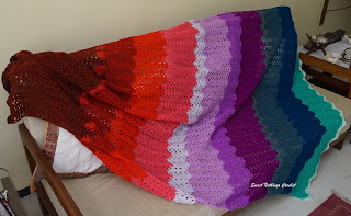 free crochet blanket pattern, free crochet chevron pattern, free crochet unusual blanket pattern