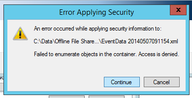 TechyGypo: Error Applying Security - Failed to Enumerate Objects