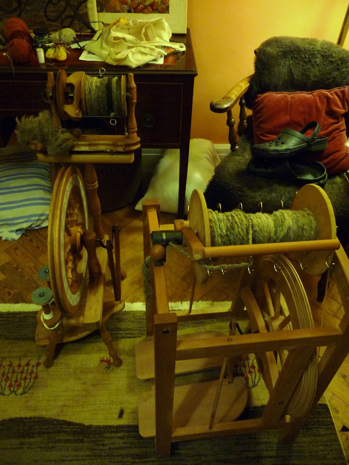 Wool Tribulations Of Hand Spinning And Herbal Dyeing Blue Texel Blues