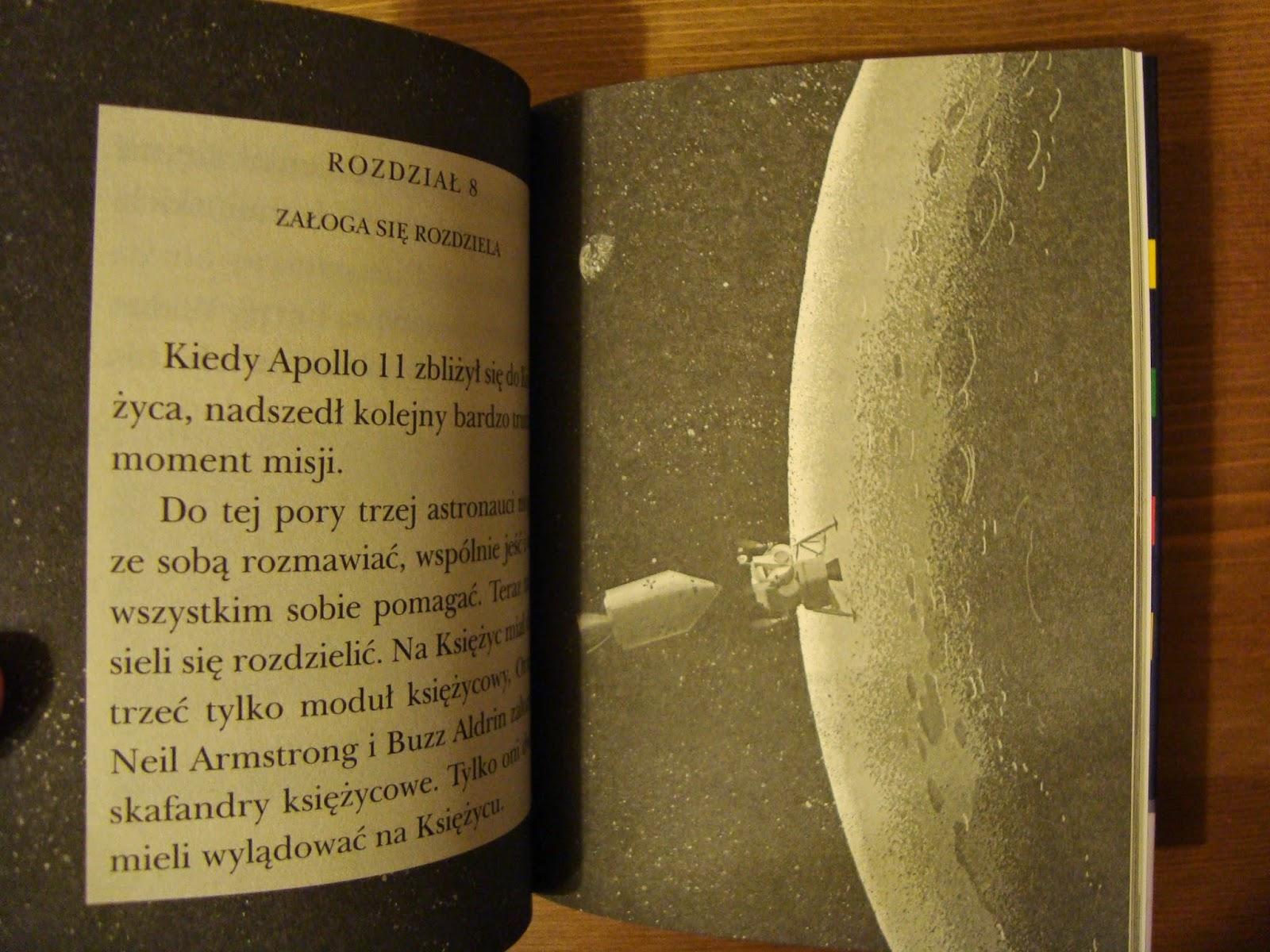 apollo 11, pierwszy człowiek na księżycu, czytam sobie, fakty, recenzja, egmont