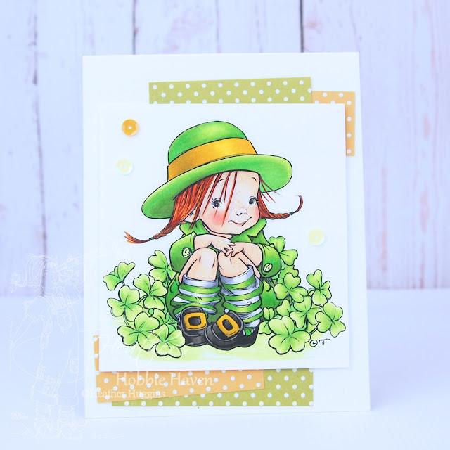 Heather's Hobbie Haven - Mo's Digital Pencil - Leprechaun Lass Card