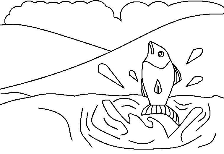 Desenhos Para Colorir Desenho Para Pintar De Peixe Natureza Para