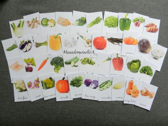 || Cartes de nomenclature ; Légumes
