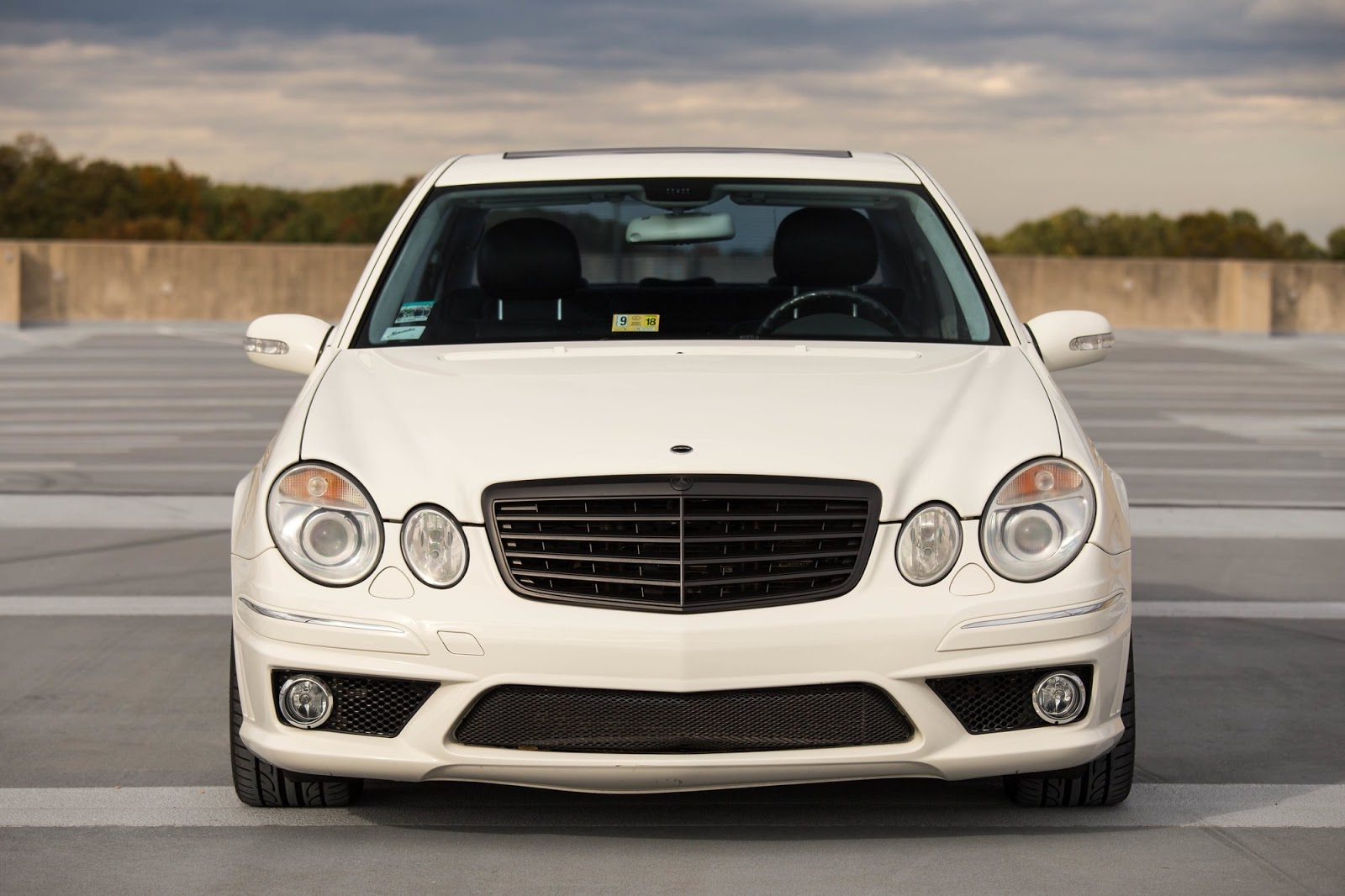mercedes benz w211 e55 amg on r19 sport edition st6 wheels benztuning. Black Bedroom Furniture Sets. Home Design Ideas