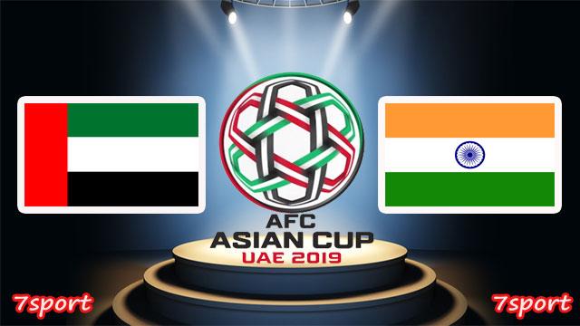 موعدنا مع  مباراة الامارات والهند  بتاريخ 10/01/2019 كأس أسيا