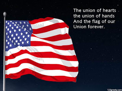 Happy Flag Day Quotes 2016: the union of hearts the union of hands and the flag of our union forever.