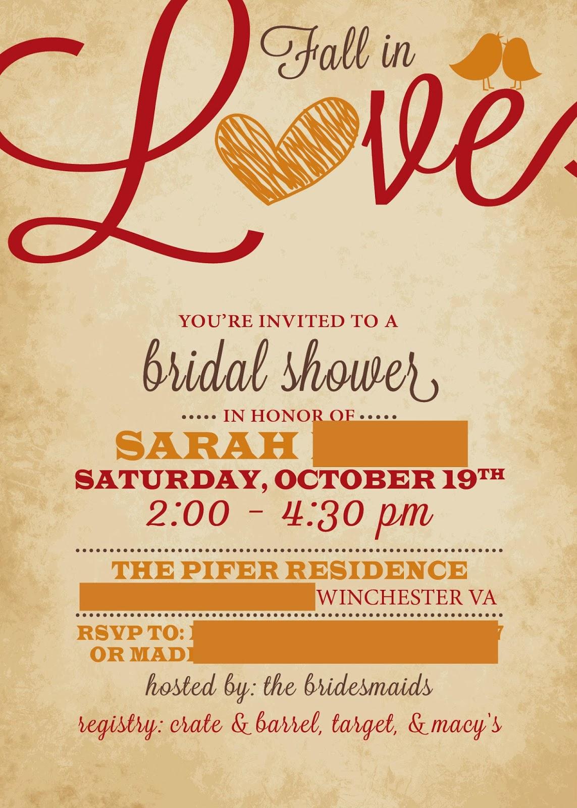 Celebrate Fall Bridal Shower Ideas