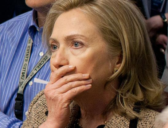 Image result for hillary clinton scared