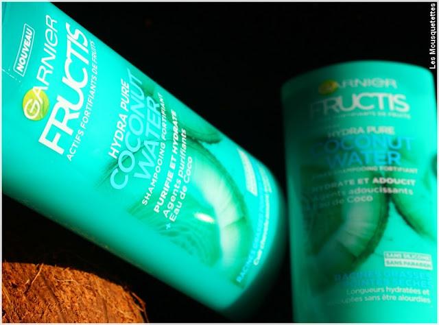 Hydra Pure Coconut Water Fructis de Garnier - Shampoing Cheveux mixtes - Blog beauté