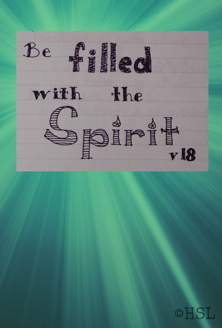 Ephesians 5:18, Scripture Writing