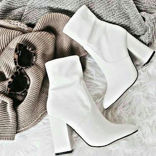 botas blancas tendencia otoño 2018