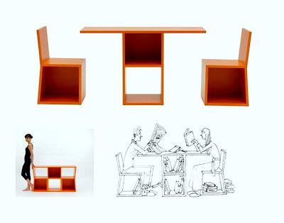 Rekaan Moden Kerusi & Meja yang Kreatif - kerusi sebuah rak