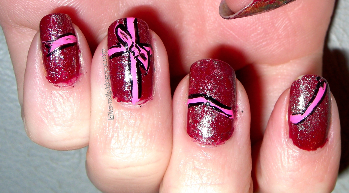 Killer Nails: Wrapped Up With A Pretty Pink Bow- Day 7