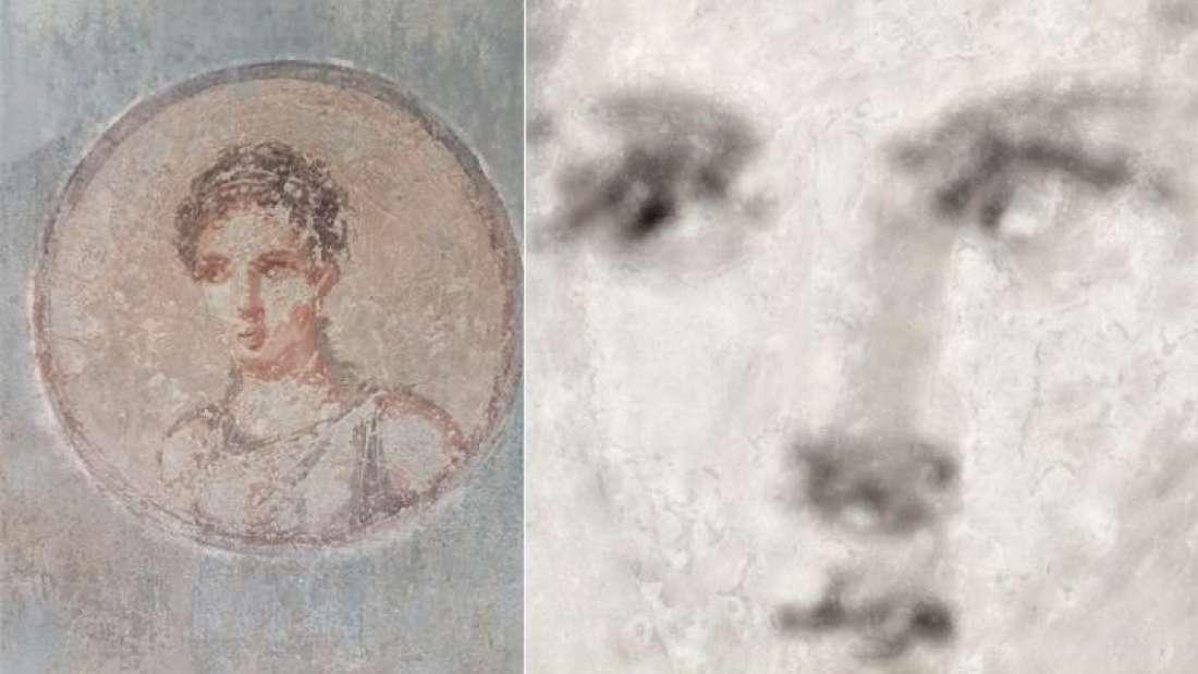 Vesuvius Young Woman Portrait Restored