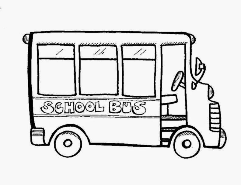 Free Coloring Sheet: School Bus Coloring Sheet